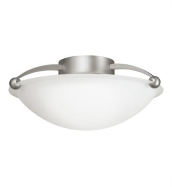 Kichler 8405NI 2 Bulb Incandescent Semi-Flush Mount Ceiling Light with Bowl Shaped Glass Shade With Finish: Brushed Nickel