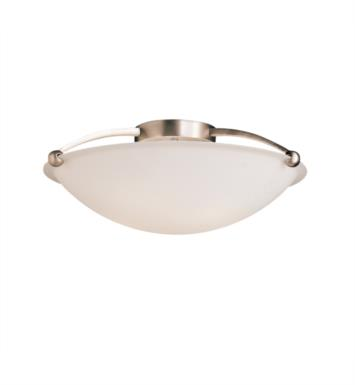 Kichler 8407NI 5 Bulb Incandescent Semi-Flush Mount Ceiling Light with Bowl Shaped Glass Shade With Finish: Brushed Nickel