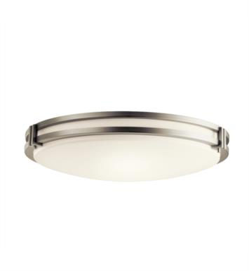Kichler 10828 3 Light Compact Fluorescent Flush Mount Ceiling Light with Round Shaped Glass Shade