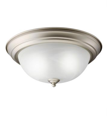 Kichler 10836 2 Light Compact Fluorescent Flush Mount Ceiling Light with Dome Shaped Glass Shade