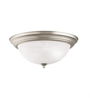 "Kichler 8110NI 3 Light 15 1/4"" Incandescent Flush Mount Ceiling Light with Dome Shaped Glass Shade With Finish: Brushed Nickel"