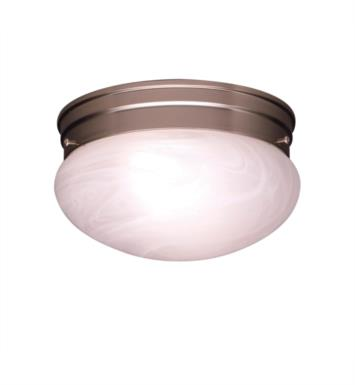 Kichler 8209NI Ceiling Space 2 Light Incandescent Flush Mount Ceiling Light with Dome Shaped Glass Shade