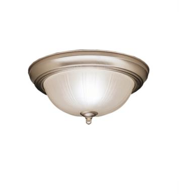 "Kichler 8653 2 Light 15 1/4"" Incandescent Flush Mount Ceiling Light with Bowl Shaped Glass Shade"