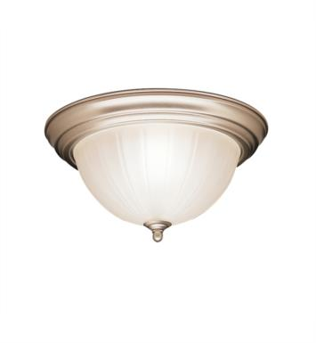 "Kichler 8654TZ 2 Light 13 1/4"" Incandescent Flush Mount Ceiling Light with Bowl Shaped Glass Shade With Finish: Tannery Bronze"