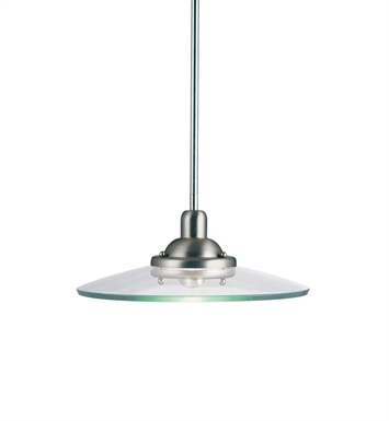 Kichler 2643NI Galaxie Collection Pendant 1 Light in Brushed Nickel