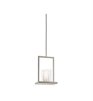 Kichler 42549CLP Triad Collection Pendant 1 Light in Classic Pewter
