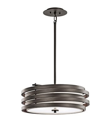 Kichler 43301OZ Roswell Collection Pendant 1 Light in Olde Bronze