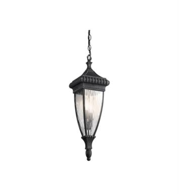 Kichler 49134BKG Venetian Rain 2 Light Incandescent Outdoor Hanging Pendant With Finish: Black W/Gold