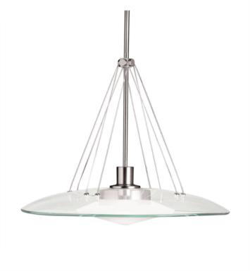 Kichler 2667NI Structures 1 Light Halogen Pendant in Brushed Nickel