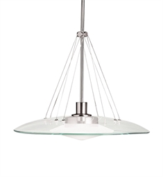 Kichler Structures Collection Pendant 1 Light Halogen in Brushed Nickel