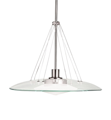 Kichler 2667NI Structures Collection Pendant 1 Light Halogen in Brushed Nickel