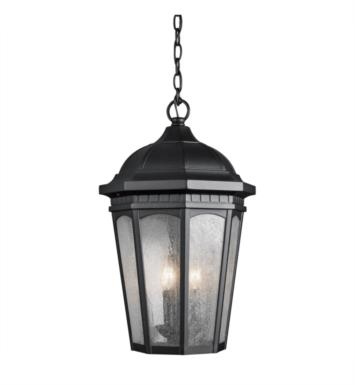 Kichler 9539BKT Courtyard 3 Light Incandescent Outdoor Hanging Pendant With Finish: Textured Black