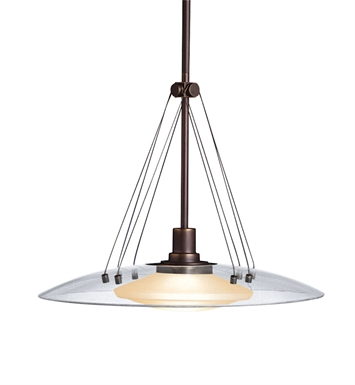 Kichler 2667OZ Structures Collection Pendant 1 Light Halogen in Olde Bronze