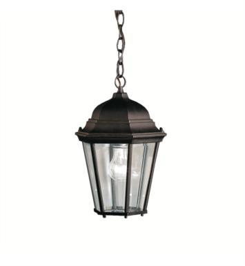 Kichler 9805BK Madison 1 Light Incandescent Outdoor Hanging Pendant With Finish: Black