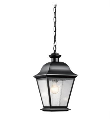 Kichler 9809BK Mount Vernon 1 Light Incandescent Outdoor Hanging Pendant With Finish: Black