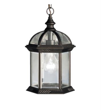 Kichler 9835BK Barrie 1 Light Incandescent Outdoor Hanging Pendant With Finish: Black