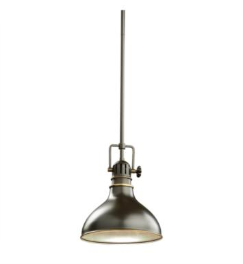 Kichler 2664PN Hatteras Bay 1 Light Incandescent Mini Pendant with Cone Shaped Metal Shade With Finish: Polished Nickel