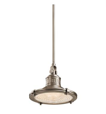 Kichler 42436AP Sayre 1 Light Incandescent Mini Pendant with Cone Shaped Metal Shade With Finish: Antique Pewter