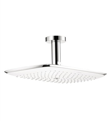 "Hansgrohe 27390401 PuraVida 400 AIR 15"" Showerhead with Ceiling Mount in White/Chrome"