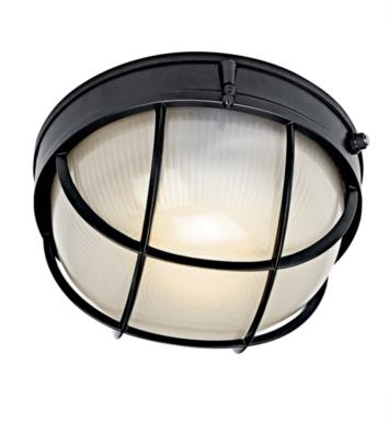 Kichler 10622 1 Light Compact Fluorescent Outdoor Wall Sconce with Dome Shaped Glass Shade