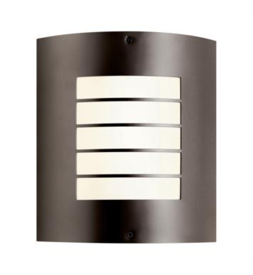 Kichler 10640 Newport 1 Light Compact Fluorescent Indoor/Outdoor Wall Sconce with Rectangular Shaped Synthetic Shade