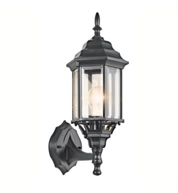 Kichler 49255WH Chesapeake 1 Light Incandescent Outdoor Wall Sconce with Lantern Shaped Glass Shade With Finish: White