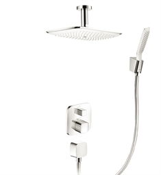 Hansgrohe HG-PRSHOWERSYS2 PuraVida Shower System with Handshower in White/Chrome Dual Finish