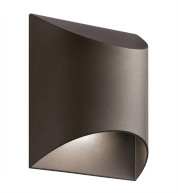 Kichler 49278AZTLED Wesley 1 Light LED Outdoor Wall Sconce with Half Cylindrical Shaped Glass Shade With Finish: Textured Architectural Bronze