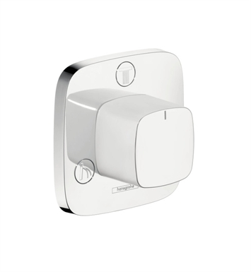 Hansgrohe 15937401 PuraVida Trio Quattro Diverter Trim in White/Chrome
