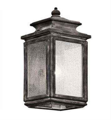 "Kichler 49501WZC Wiscombe Park 1 6"" Light Incandescent Outdoor Wall Sconce with Lantern Shaped Glass Shade With Finish: WZC"