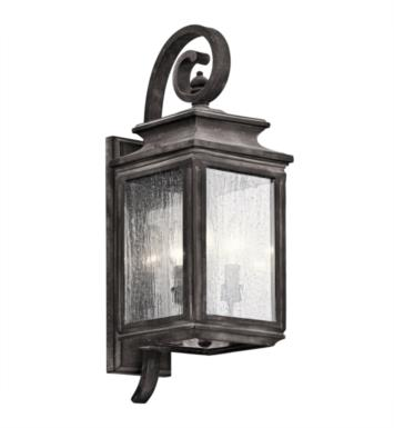 "Kichler 49502WZC Wiscombe Park 3 Light 7 1/2"" Incandescent Outdoor Wall Sconce with Lantern Shaped Glass Shade With Finish: WZC"