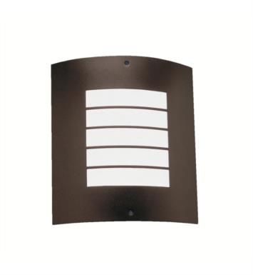 Kichler 6040AZ Newport 1 Light Compact Fluorescent Outdoor Wall Sconce with Rectangular Shaped Glass Shade With Finish: Architectural Bronze