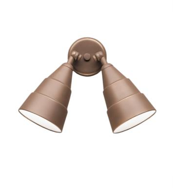 Kichler 6052AZ 2 Light Incandescent Outdoor Wall Sconce with Cone Shaped Metal Shade With Finish: Architectural Bronze
