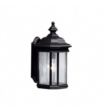 "Kichler 9029TZ Kirkwood 1 Light 8 1/2"" Incandescent Outdoor Wall Sconce with Lantern Shaped Glass Shade With Finish: Tannery Bronze"