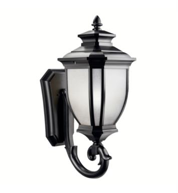 "Kichler 9043 Salisbury 1 Light 12"" Incandescent Outdoor Wall Sconce with Lantern Shaped Glass Shade"