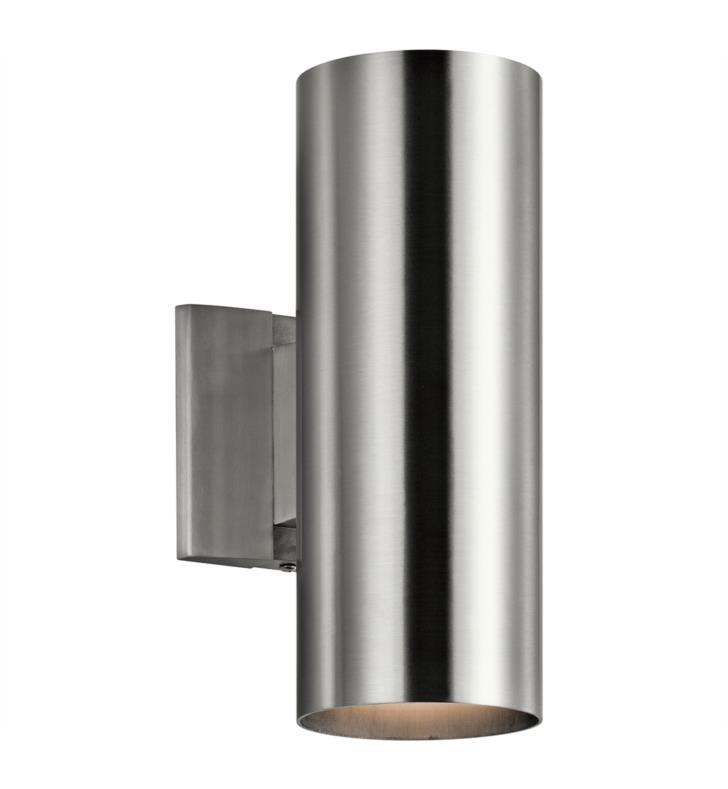 Kichler 9244wh 2 Light 4 1 2 Incandescent Indoor Outdoor Wall Sconce With Cylindrical Shaped