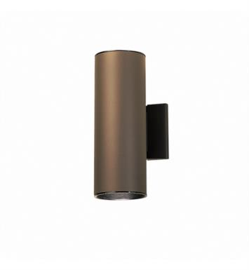 "Kichler 9244WH 2 Light 4 1/2"" Incandescent Indoor/Outdoor Wall Sconce with Cylindrical Shaped Glass Shade With Finish: White"
