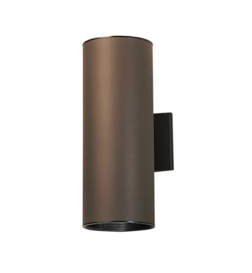 "Kichler 9246AZ 2 Light 6"" Incandescent Indoor/Outdoor Wall Sconce with Cylindrical Shaped Glass Shade With Finish: Architectural Bronze"