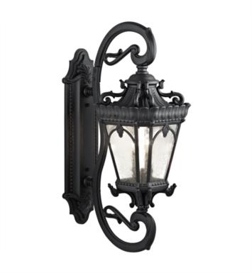 "Kichler 9359 Tournai 4 Light 14"" Incandescent Outdoor Wall Sconce with Lantern Shaped Glass Shade"