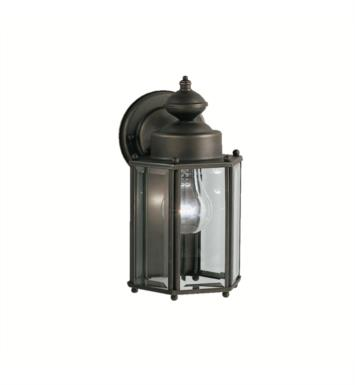 "Kichler 9618 1 Light 5 3/4"" Incandescent Outdoor Wall Sconce with Lantern Shaped Glass Shade"