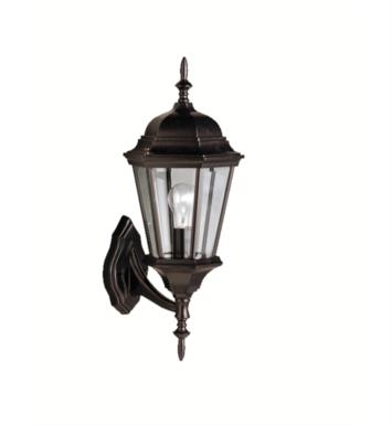 "Kichler 9653BK Madison 1 Light 19 3/4"" Incandescent Outdoor Wall Sconce with Lantern Shaped Glass Shade With Finish: Black"