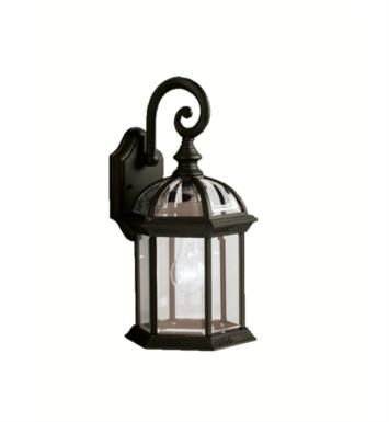 "Kichler 9735BK Barrie 1 Light 15 1/2"" Incandescent Outdoor Wall Sconce with Lantern Shaped Glass Shade With Finish: Black"