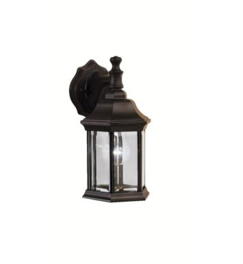 "Kichler 9776WH Chesapeake 1 Light 61/2"" Incandescent Outdoor Wall Sconce with Lantern Shaped Glass Shade With Finish: White"
