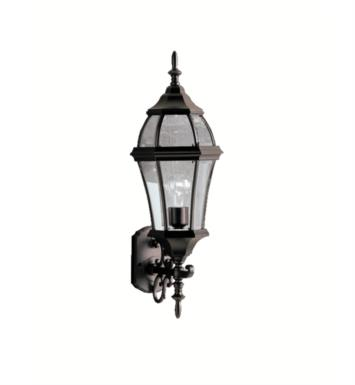 "Kichler 9791 Townhouse 1 Light 9 1/4"" Incandescent Outdoor Wall Sconce with Lantern Shaped Glass Shade"