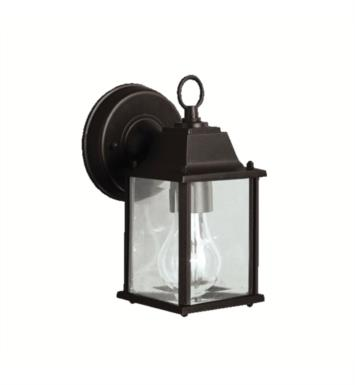 "Kichler 9794 Barrie 1 Light 4 3/4"" Incandescent Outdoor Wall Sconce with Rectangular Shaped Glass Shade"