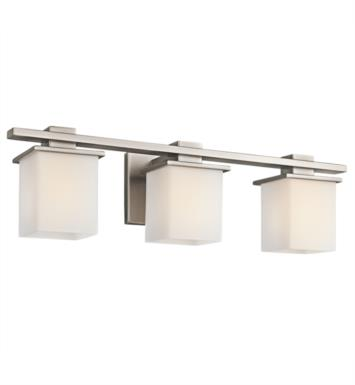 "Kichler 45151CH Tully 3 Light 24"" Incandescent Wall Mount Bath Light with Square Shaped Glass Shade With Finish: Chrome"