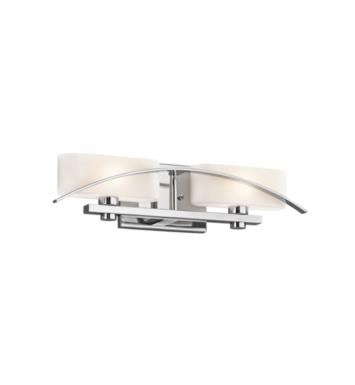 "Kichler 45316NI Suspension 2 Light 20"" Incandescent Wall Mount Bath Light with Oval Shaped Glass Shade With Finish: Brushed Nickel"