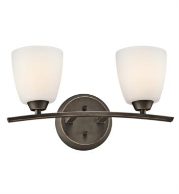 "Kichler 45359OZ Granby 2 Light 17"" Incandescent Wall Mount Bath Light with Dome Shaped Glass Shade With Finish: Olde Bronze"