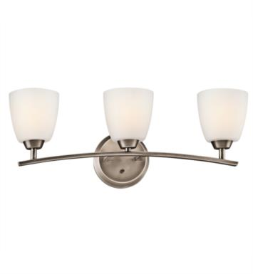 "Kichler 45360CH Granby 3 Light 25"" Incandescent Wall Mount Bath Light with Dome Shaped Glass Shade With Finish: Chrome"
