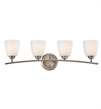 "Kichler 45361BPT Granby 4 Light 32 3/4"" Incandescent Wall Mount Bath Light with Dome Shaped Glass Shade With Finish: Brushed Pewter"